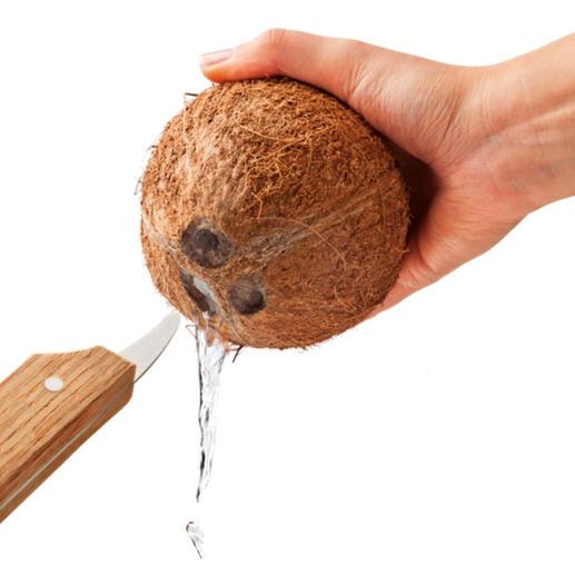 Einfach die Kokosmilch abfließen lassen ...