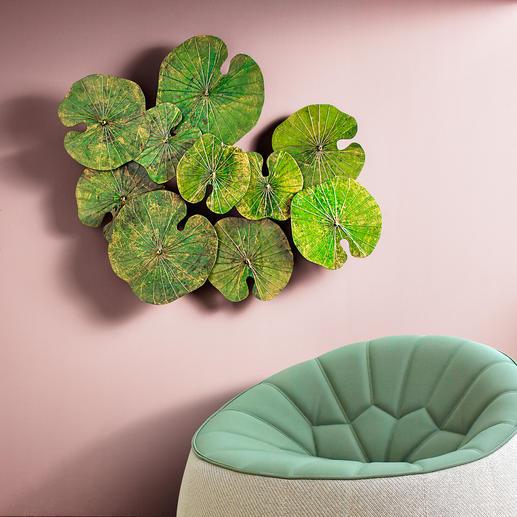 Das Lotusblatt gilt im Buddhismus als Symbol für Reinheit, Schönheit und Heiligkeit.