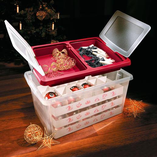 Maxi-Weihnachtsbox - Die stoßfeste Maxibox schützt bis zu 72 Kugeln. Mit praktischem Staudeckel.