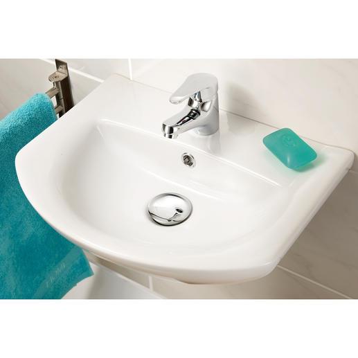 XL-Waschbeckenstöpsel Chrom - Verschönert Ihr Waschbecken im Handumdrehen. 6,2 cm Ø – verdeckt den unattraktiven Ablaufbereich.