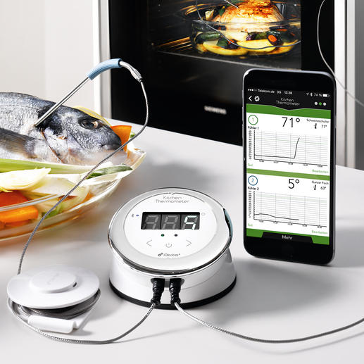 Bluetooth® Smart Küchenthermometer - Auf Ihrem Smartphone haben Sie die Bratentemperatur im Blick.