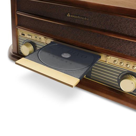 CD-Fach zum Abspielen von CDs – und gleichzeitigem Umwandeln in MP3-Files.