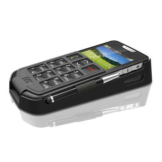 Easy-Smartphone emporiaSmart in der mitgelieferten Tischladestation.