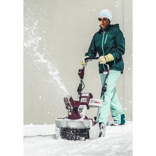 Akku-Schneefräse