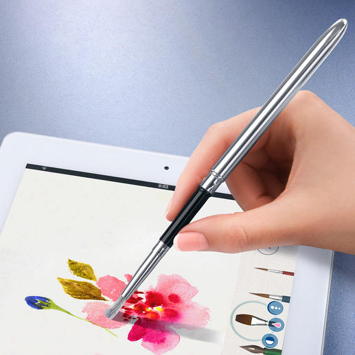 Touchscreen-Pinsel/-Pen - Kunstvoll malen und zeichnen. Digital. So realistisch wie auf Leinwand und Zeichenblock.