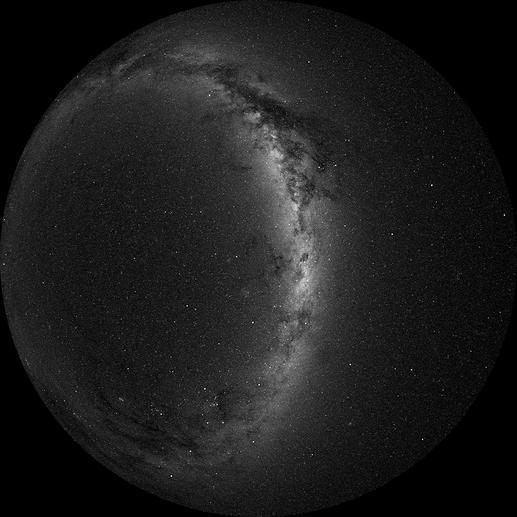 Projektionsscheibe: Südliche Hemisphäre