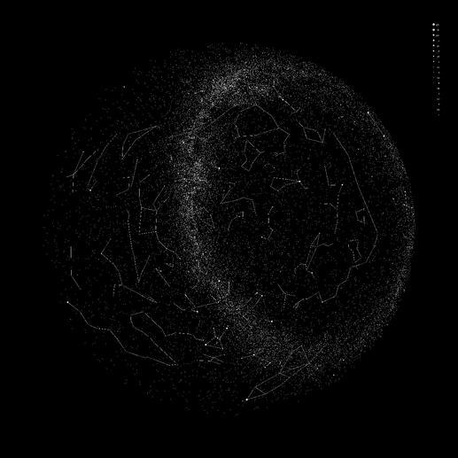 Projektionsscheibe: Nördliche Hemisphäre mit Sternbildlinien (mitgeliefert)