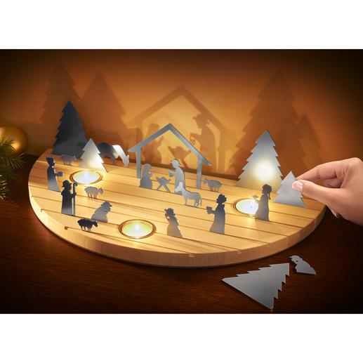 Weihnachtskrippe Silhouette - Die klassisch schöne Weihnachtskrippe – außergewöhnlich als modernes Schattenspiel.