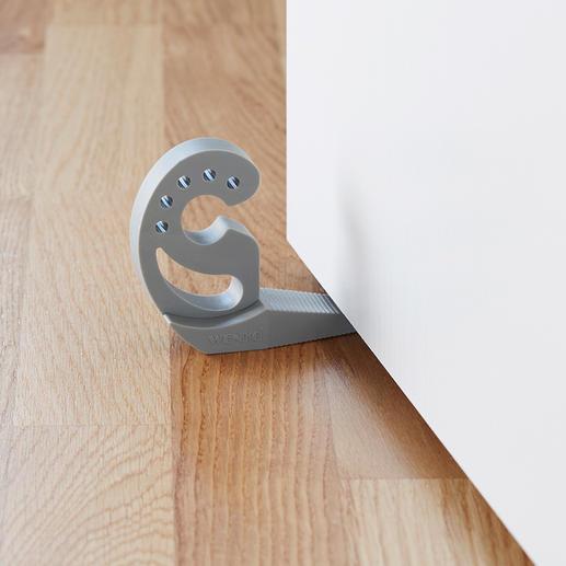 Unter die Tür geklemmt: perfekter Türstopper, der nicht verrutscht.