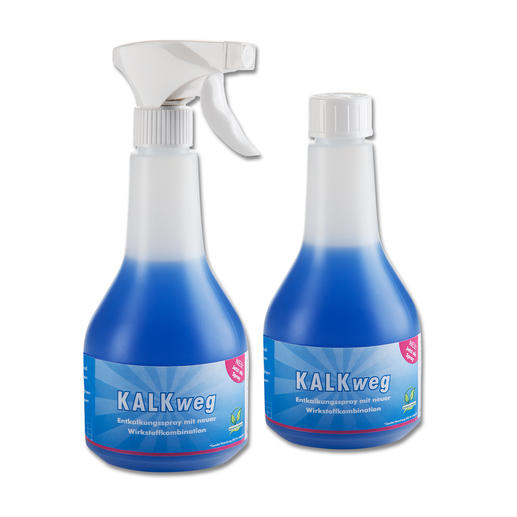 Kalk weg, 2er-Set - Der bessere Badreiniger: haftet länger an Duschwänden, Becken, Armaturen. Löst Kalk und Schmutz fast von allein.