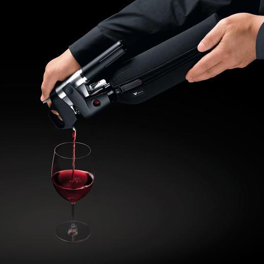 Das Ausschenken von 150 ml Wein dauert durchschnittlich 21-25 Sekunden.
