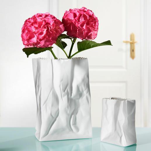 Tütenvase Entworfen von der Design-Legende Tapio Wirkkala. Aus feinstem Rosenthal-Porzellan.