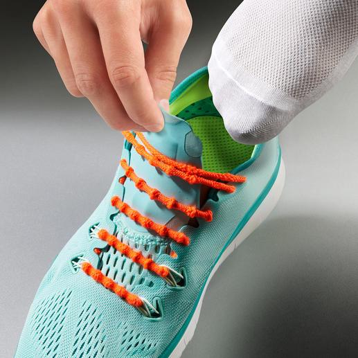 Xtenex Schnürsystem Schluss mit Schnürsenkel binden. Von Weltklasse-Athleten getragen und empfohlen.
