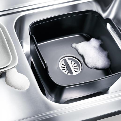 Wash & Drain Bowl Mit eingebautem Sieb-Abfluss. Ruck-zuck ein zusätzlicher Spülplatz. Überall. Von Joseph Joseph.