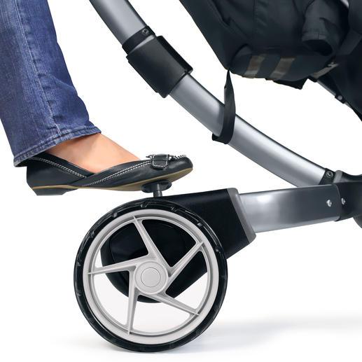 Praktische Pedalbremse mit Reflektierstreifen