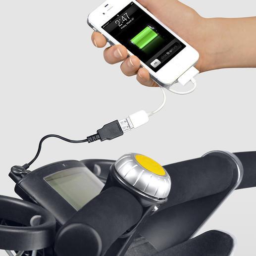 Eine Handy-Tasche mit USB-Ladekabel ist auch gleich dabei.