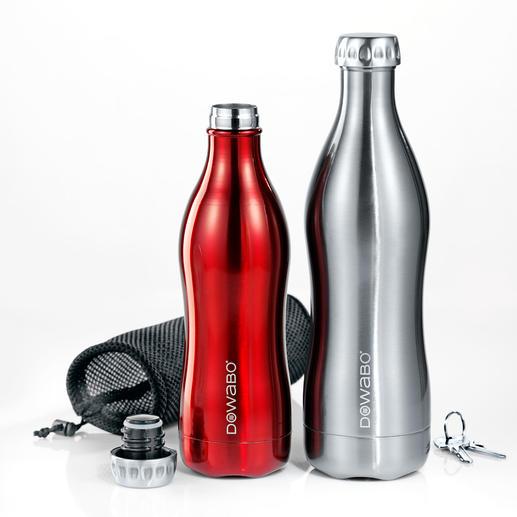 DoWaBo® Isolierflasche - Endlich eine Isolierflasche auch für kohlensäurehaltige Getränke. Doppelwandiger Edelstahl in stylischem Design.
