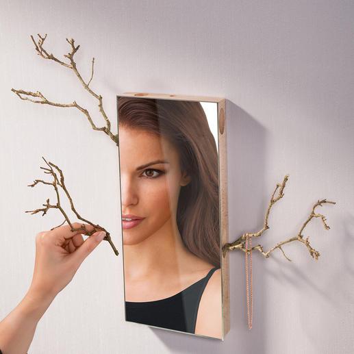 """Spiegel """"Belle du Jour"""" - Unzählige Gestaltungsmöglichkeiten. Durch seitliche Halterungen vielseitig zu dekorieren – immer einzigartig."""