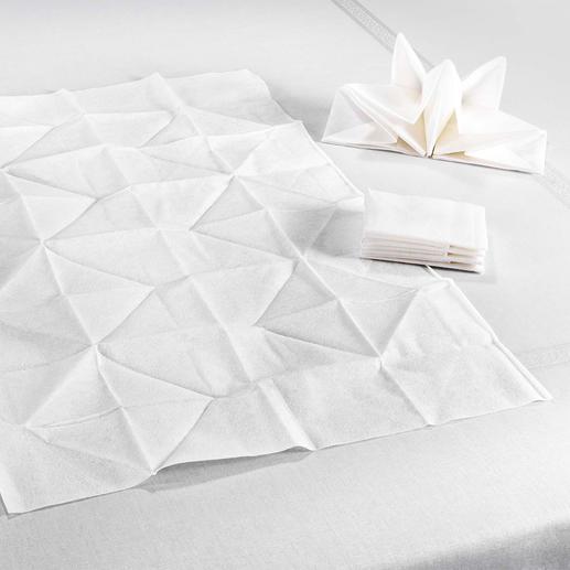 Statt oft nur 33x 33cm sind diese Origami-Servietten üppige 60x 40cm groß.