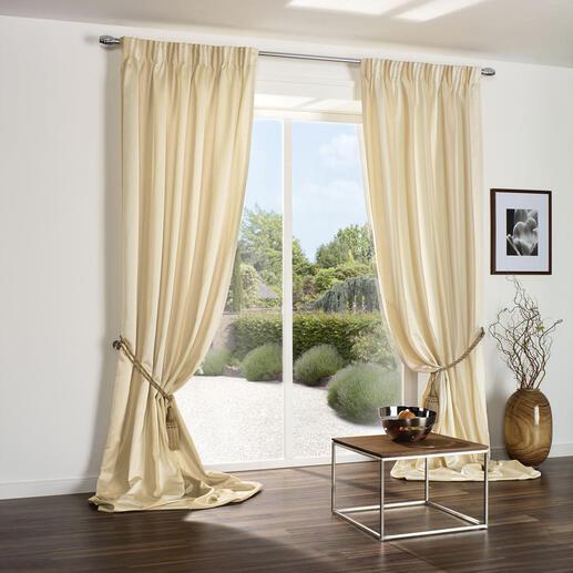 Vorhang Solice Stripe - 1 Stück Der Uni-Vorhang mit Matt-Glanz-Blockstreifen.