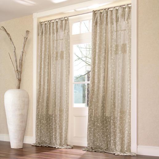 Vorhang Papillon - 1 Stück Die Optik reinen Leinens. Aber weicher, fließender und leichter zu bügeln.