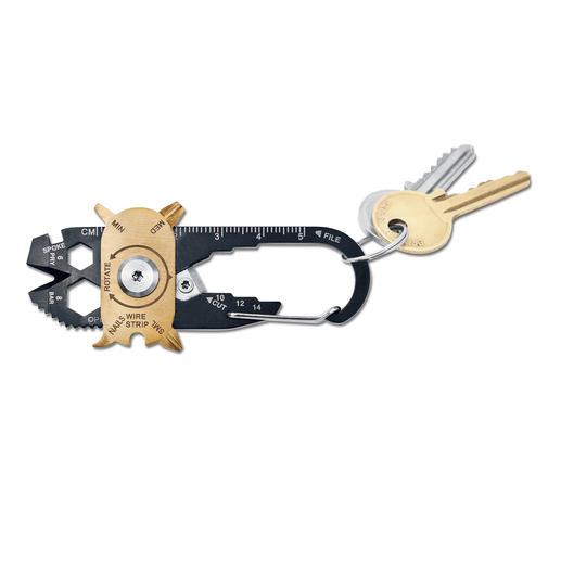 20-in-1 Mini-Tool - Ihr Werkzeugkasten am Schlüsselbund. 20 (!) vollwertige Tools auf kleinstem Raum. Jederzeit griffbereit.