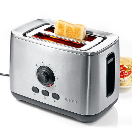 """Unold Turbo-Toaster """"Eco"""" - Der vermutlich schnellste Toaster der Welt. Geniale Turbo-Funktion bräunt bis zu 50 % schneller."""