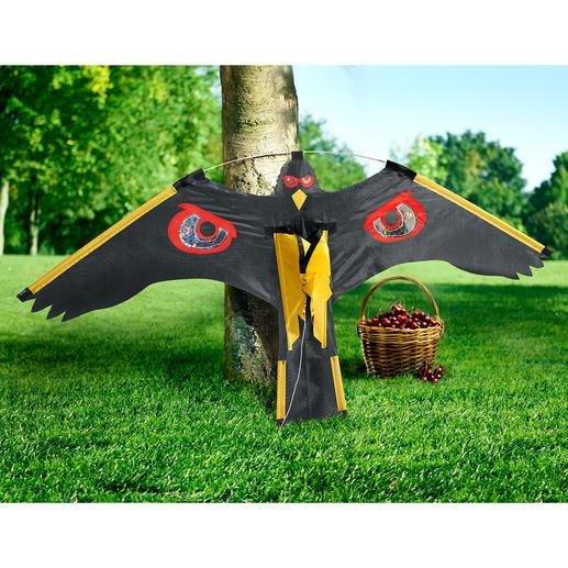Flugdrache - Lautlos, ohne Strom, Chemie, extra Kosten befreit dieser Flugdrache Ihren (Nutz-)Garten von lästigen Tieren.