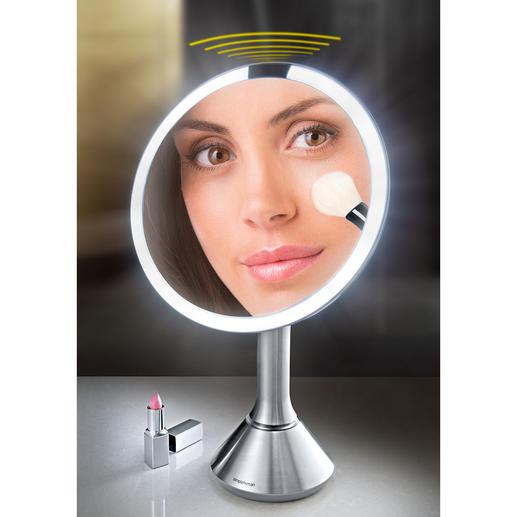 Sensor-LED-Spiegel - Heller. Gleichmäßiger. Farbgenauer. Der LED-Vergrößerungsspiegel für ein optimales Schminkergebnis.