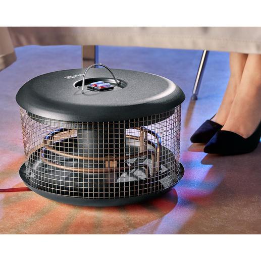 Wärmepilz Bellardor - Handlich, energiesparend, sicher und preisgünstig. Sorgt immer für wohlig warme Füße - outdoor und indoor.