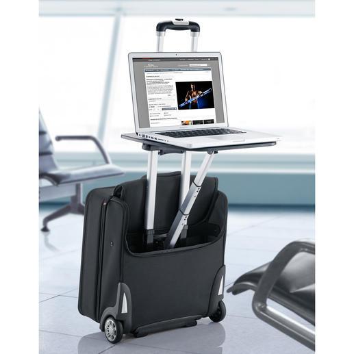 Business-Trolley Traveldesk™ - In den USA entdeckt: Der Business-Trolley mit Arbeitstisch. Wartezeiten im Airport und andernorts nutzen Sie jetzt mit Komfort.