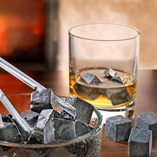 Whisky Stones - Millionen Jahre alte Specksteine kühlen Ihre Drinks – ohne sie zu verwässern.