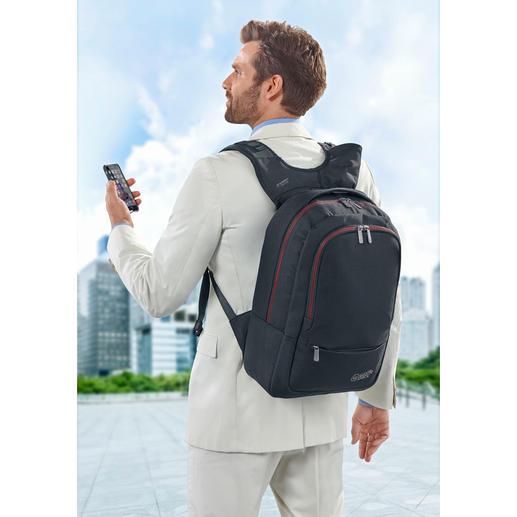 Wolffepack™ Sicherheitsrucksack - Der erste Rucksack mit bequemem Schnellzugriff. Schwingt mit einem Handgriff von hinten nach vorne.
