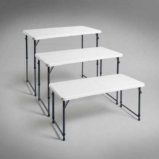 Vierfach höhenverstellbar - ideal als Buffet- und Beistelltisch, Ess- und Arbeitstisch, Spieltisch für die Kleinen, …
