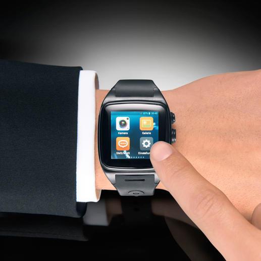 Gewählt wird über die Touchscreen-Tastatur oder aus dem Telefonbuch-Speicher.