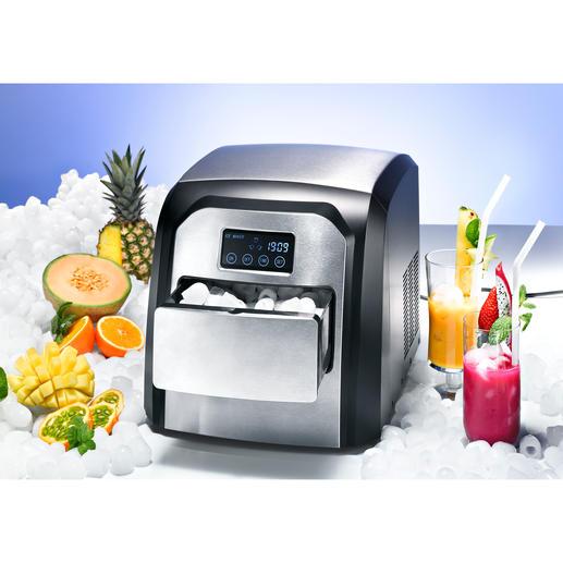 Design-Icemaker - Cool. Kompakt. Komfortabel. Mit Edelstahlfront und Touch-Display.