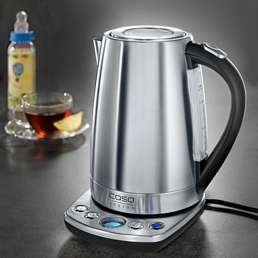 Caso Design-Wasserkocher mit Temperaturwahl - Edelstahl-Wasserkocher mit präziser Temperaturwahl in 7 Stufen (statt oft nur 3-5).