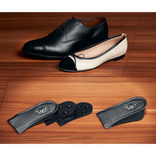 Verlängern Sie Ihre Beine unsichtbar bis zu 4,7 cm: Die 3 Push-up-Elemente lassen sich einzeln einlegen oder beliebig kombinieren.