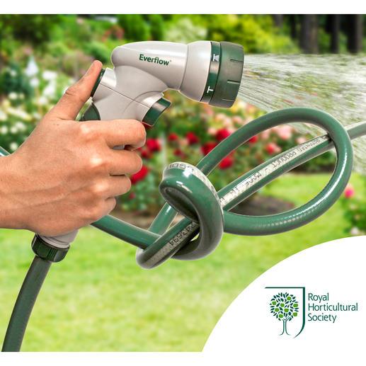 Everflow®-Gartenschlauch - Dieser Gartenschlauch macht Schluss mit lästigem Wasserstau.