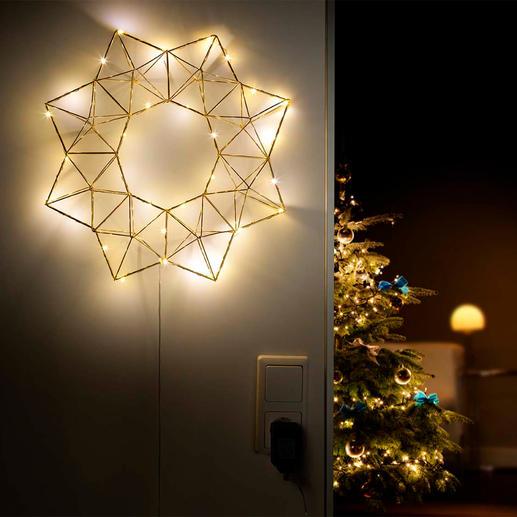 Pyramiden-Lichterstern Von kubistischer Kunst inspiriert ist dieser zierliche Lichterstern im neuen, grafisch klaren Design.