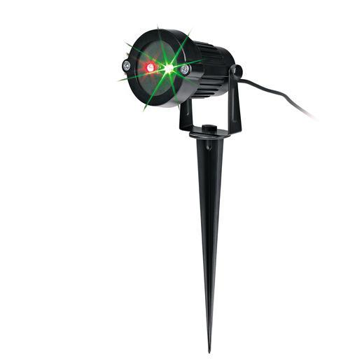 Laser-Lichtzauber - Der Laserstrahler überzieht bei 10 m Entfernung eine Fläche von bis zu 230 m² mit mehr als 1.000 Lichtpunkten.