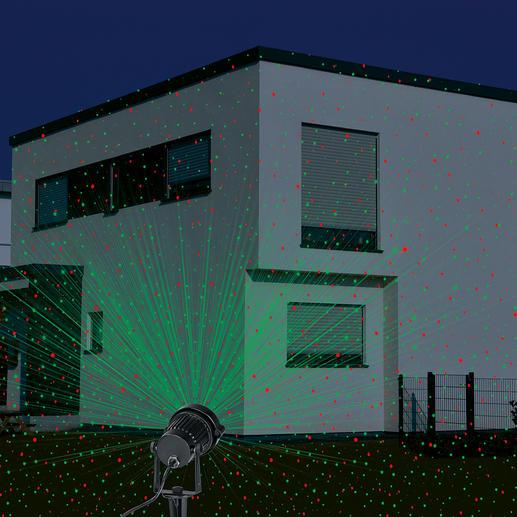 Mit dem Laser-Lichtzauber wird Ihr Haus zum spektakulären Blickfang.