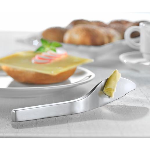 Balance Buttermesser - Finnisches Edelstahl-Design hält Butter & Co. sauber von Ihrem Tisch(tuch) fern.
