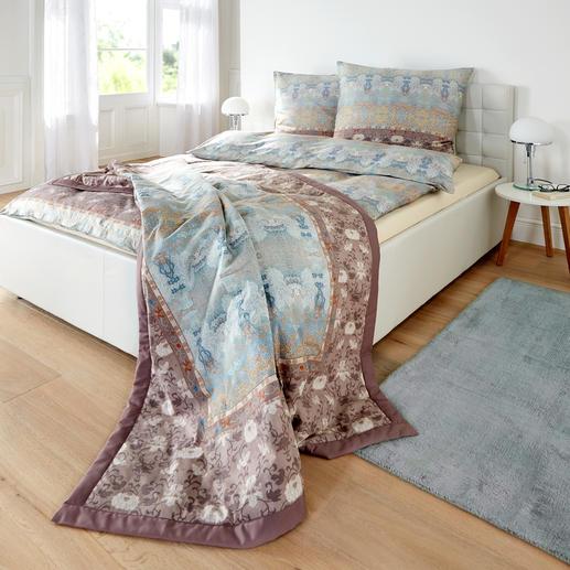 Bettgarnitur Taffetà oder Stepp-Plaid - Die Eleganz schwerer, antiker Gobelins – italienisch leicht als edle Bettbezüge.