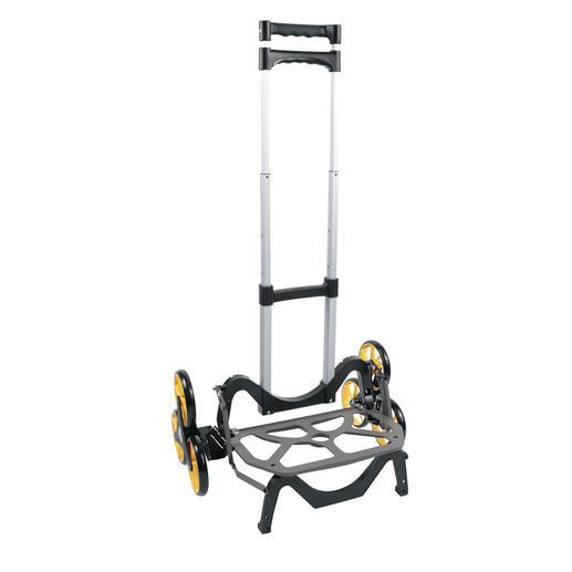 Faltbarer Treppenwagen UpCart - Überwindet Stufen und Hindernisse fast von allein. Platzsparend faltbar.