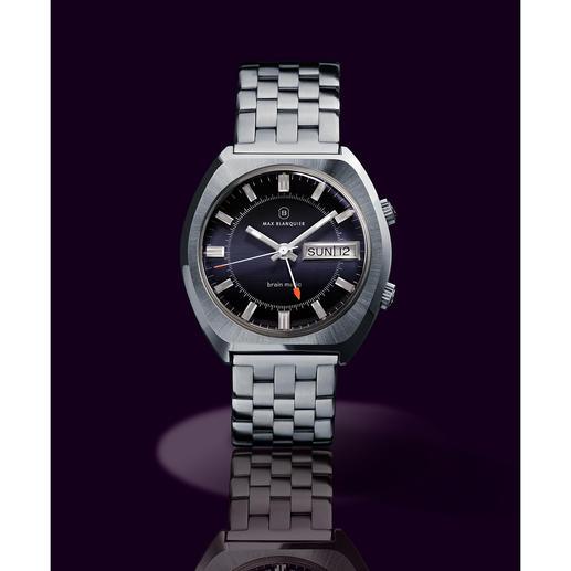 """Blanquier Wecker-Armbanduhr """"1973"""" - Rarität für Liebhaber: die Wecker-Armbanduhr mit Original-Uhrwerk und -Gehäuse aus den 70er-Jahren."""