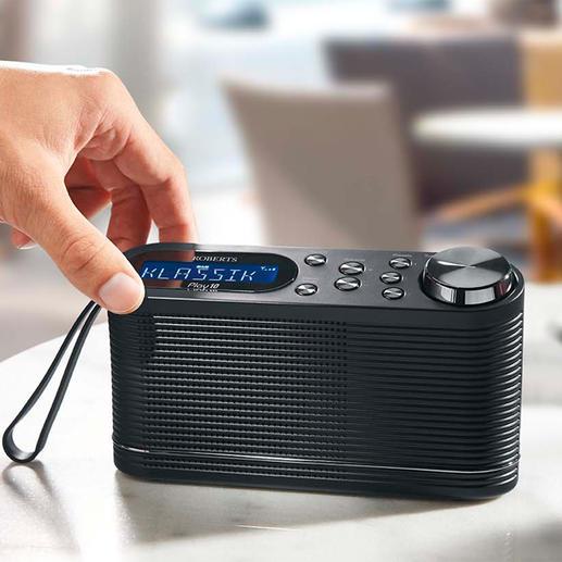 Roberts DAB+ Radio Play10 - Das Digitalradio vom Hoflieferanten der Queen – für zu Hause und unterwegs.