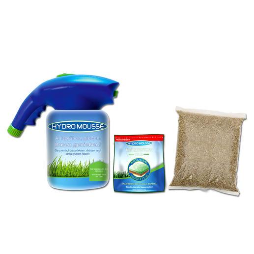 Hydro Mousse™ Sprührasen - Das Begrünungssystem der Profis. Jetzt auch für den Hausgebrauch.