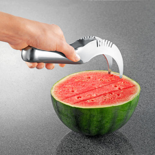 Melonenschneider - Noch nie war Melone servieren so einfach. Finger und Arbeitsfläche bleiben trocken und verkleben nicht.