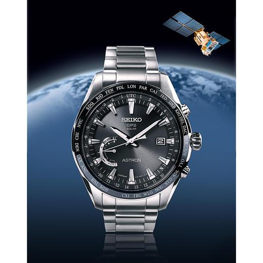 Seiko Astron GPS Solar World Time - Der Ur-Klassiker der Weltenbummler – jetzt aufgestiegen in die Business-Class. Flacher. Klarer. Eleganter.